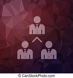 Three business people in flat style icon - Three business...
