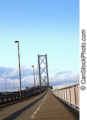 Forth Road Bridge Edinburgh - Forth Road Bridge in the...