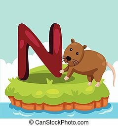 Illustrator of Letter N - Illustrator of Letter 'N is for...