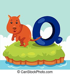 Illustrator of Letter Q - Illustrator of Letter 'Q is for...