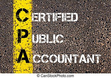 Business Acronym CPA Certified Public Accountant Yellow...