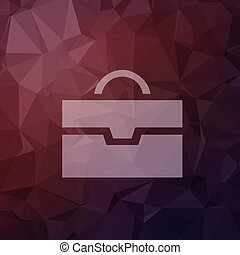 Briefcase in flat style icon - Briefcase icon in flat style...