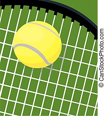 Tennis racquet and ball - A close up image of a tennis...