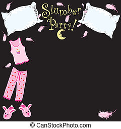 Pillow fight - Slumber Party invitation
