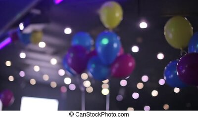 Color balloons at the night club