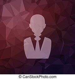 Businessman in flat style icon