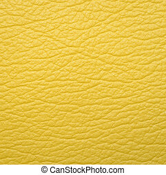 Yellow leather texture background - Bright yellow leather...