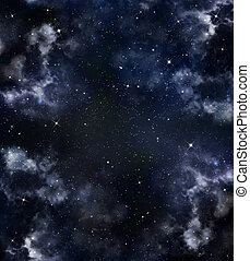 night sky - beautiful background of the night sky