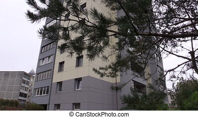 renovated block house - renovated high flat apartment block...