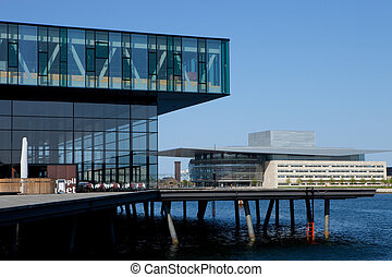Modern Copenhagen - Two modern buildings in Copenhagen,...