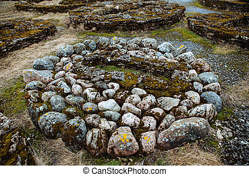The stone tomb, Northern Europe. Ancient scene