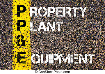 Business Acronym PP and E - Property, plant, and equipment -...