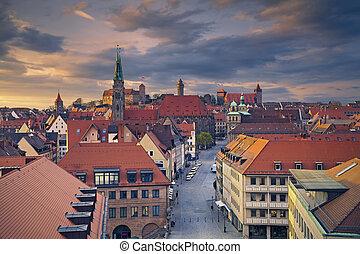 Nuremberg. - Image of historic downtown of Nuremberg,...