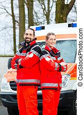 前部, 自動車, 救急車, 緊急事態, 医者
