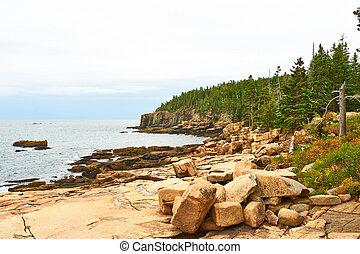 Sea view at Acadia National Park, Maine