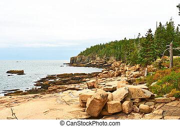 Sea view at Acadia National Park, Maine, USA