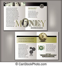 100 Dollar Bill Brochure Template - Four Page Brochure...