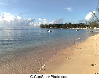 Beach at Barbados 2 - Lovely beach on the island of...