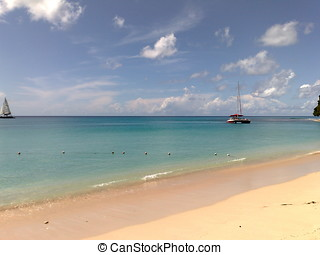 Beach at Barbados 1 - Lovely beach on the island of...