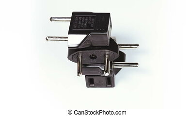 Adapter socket - On rotating table is adapter into a power...