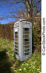 Payphone rural - Grey GPO / BT payhone painted green to...
