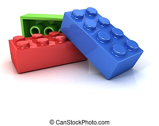 Plastic building blocks, toy