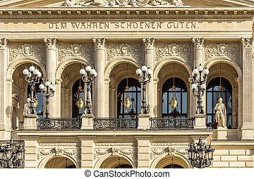 facade of frankfurts alte oper in detail