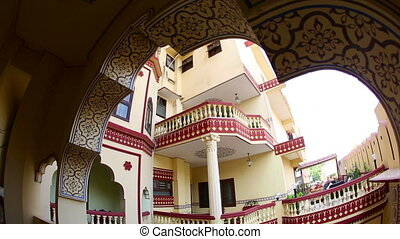 Hotel atrium - JAIPUR, INDIA - NOVEMBER 19, 2012 : Atrium of...
