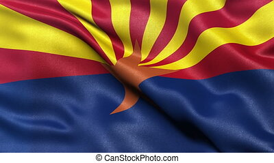 US state flag of Arizona loop - US state flag of Arizona...