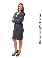 Successful business woman with arms crossed