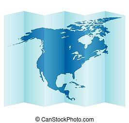 North America map on a white background Vector illustration...