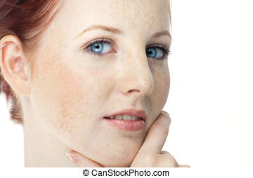 Woman With Freckles - Beautiful fresh Northern European girl...
