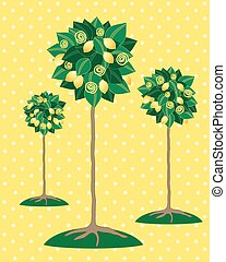 lemon tree - a vector illustration in eps 10 format of three...
