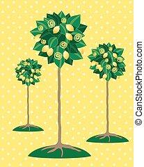 lemon tree - a vector illustration in eps 10 format of three...