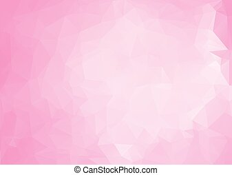 Pink White Polygonal Mosaic Background, Vector illustration,...