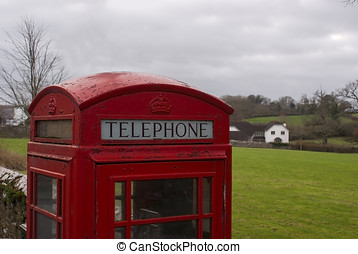 GPO phonebox - GPO phone box in a rural village