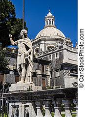 catedral, fachada, Cappella, Di, Sant, Agata, -, construido,...