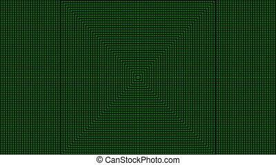 Abstract green stripes on dark background