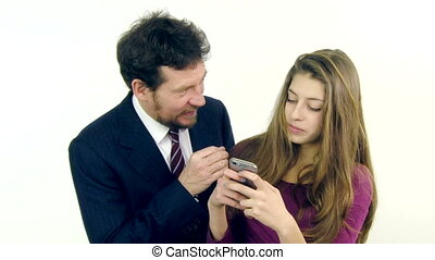 Father angry with daughter - Father getting angry with...