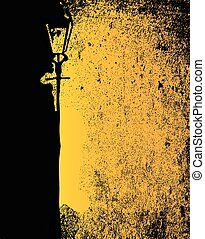 Badly Lit Street - A black and yellow image of a badly lit...
