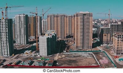 Flying Above Unfinished Buildings