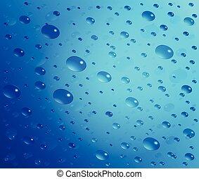 Abstract raindrop illustration