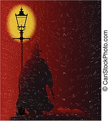 Jack the Ripper in Gaslight - Jack the Ripper standing by a...