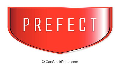 Prefect Badge - A typical school prefect badge over a white...