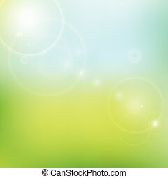 Vector blur blue and green background