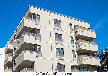 New house in Berlin - A new house with apartments seen in...