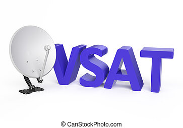 Very-small-aperture terminal (VSAT) service concept isolated...