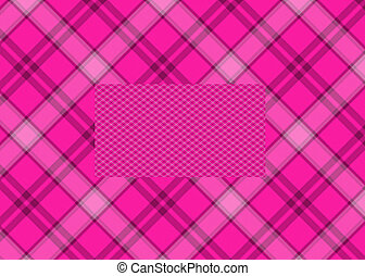 Pink Plaid Background - Pink plaid background