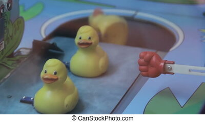 Ducks at a carnival game HD