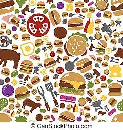 hamburger seamless pattern